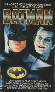 Batman (1989) Front Cover of Movie Novelization