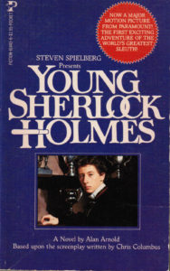 Young Sherlock Holmes (1985) Front Cover of Movie Novelization