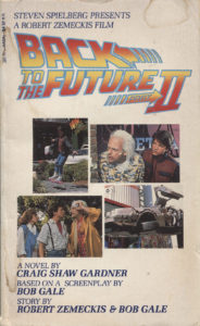 Back to the Future Part II (1989) Front Cover of Movie Novelization