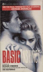 Basic Instinct (1992) Front Cover of Movie Novelization