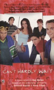 Can't Hardly Wait (1998) Front Cover of Movie Novelization