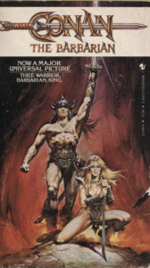 Conan the Barbarian (1982) Front Cover of Movie Novelization