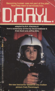 D.A.R.Y.L. (1985) Front Cover of Movie Novelization