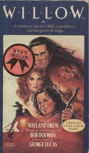 Willow (1988) Front Cover of Movie Novelization
