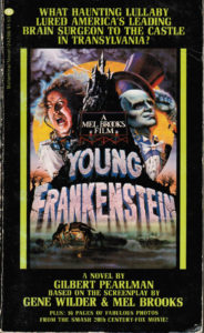 Young Frankenstein (1974) Front Cover of Movie Novelization
